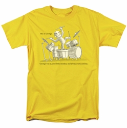 Curious George t-shirt This Is George mens Yellow