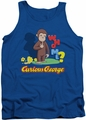 Curious George tank top Who Me mens royal blue