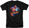 CW's The Flash t-shirt Fastest Man mens black