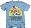 Cyborg kids t-shirt DC Comics carolina blue