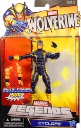 Cyclops action figure Wolverine Legends with Puck piece