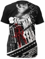 Daredevil big print subway t-shirt without fear mens black