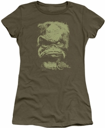 Dark Crystal juniors t-shirt Aughra military green