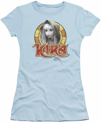 Dark Crystal juniors t-shirt Kira Circle light blue