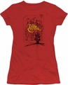 Dark Crystal juniors t-shirt Poster Lines red