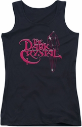 Dark Crystal juniors tank top Bright Logo black