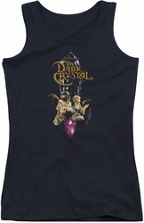Dark Crystal juniors tank top Crystal Quest black