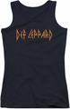 Def Leppard juniors tank top Horizontal Logo black