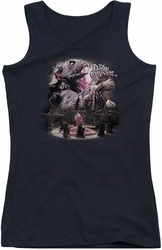 Dark Crystal juniors tank top Power Mad black