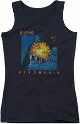 Def Leppard juniors tank top Pyromania black