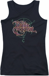 Dark Crystal juniors tank top Symbol Logo black
