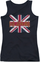 Def Leppard juniors tank top Union Jack black