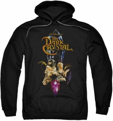 Dark Crystal pull-over hoodie Crystal Quest adult black