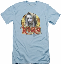 Dark Crystal slim-fit t-shirt Kira Circle mens light blue