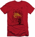 Dark Crystal slim-fit t-shirt Poster Lines mens red