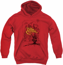 Dark Crystal youth teen hoodie Poster Lines red