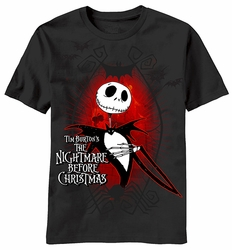 Dark Love Nightmare Before Christmas mens t-shirt