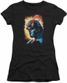 Darkseid juniors t-shirt Fire black