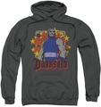 Darkseid pull-over hoodie Stars adult charcoal