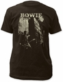 David Bowie guitar fitted jersey tee coal