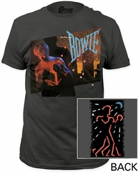 David Bowie let's dance fitted jersey tee mens charcoal pre-order