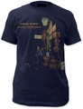 David Bowie ziggy in the street sueded fitted jersey tee mens navy pre-order