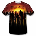 Dawn Of The Dead front sublimation t-shirt Swarm short sleeve White