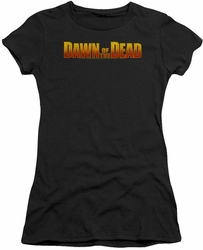 Dawn of The Dead juniors t-shirt Dawn Logo black