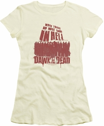 Dawn of The Dead juniors t-shirt No More Room cream