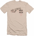 Dawn Of The Dead slim-fit t-shirt Help Alive Inside mens cream