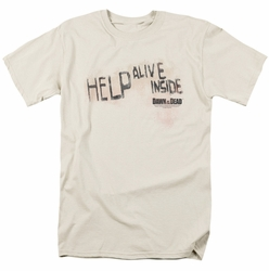 Dawn Of The Dead t-shirt Help Alive Inside mens cream