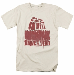 Dawn Of The Dead t-shirt No More Room mens cream