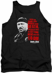 Dawn Of The Dead tank top Worse Than Death mens black