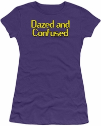 Dazed And Confused juniors t-shirt Dazed Logo purple