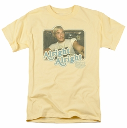 Dazed And Confused t-shirt Alright Alright mens banana