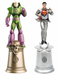 Dc Chess Figurine Coll Magazine Special Superman & Lex Luthor Alt King