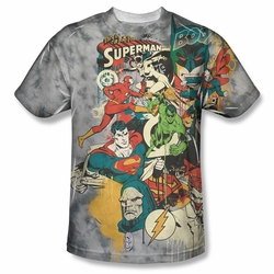 DC Comic front sublimation t-shirt Friends Or Foes short sleeve White