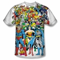 DC Comic front sublimation t-shirt Original Universe short sleeve White