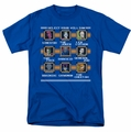 DC Comic Villains t-shirt Stage Select mens royal