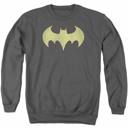 DC Comics adult crewneck sweatshirt Batgirl Logo Distressed charcoal