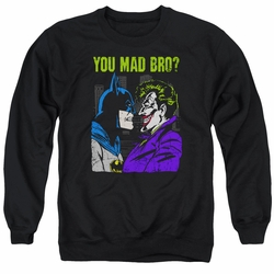 DC Comics adult crewneck sweatshirt Batman Mad Bro black