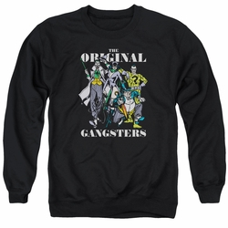 DC Comics adult crewneck sweatshirt DC Villains Original Gangsters black