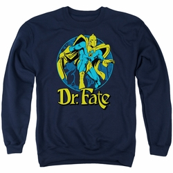 DC Comics adult crewneck sweatshirt Dr Fate Ankh navy