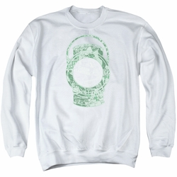 DC Comics adult crewneck sweatshirt Green Lantern Cover white