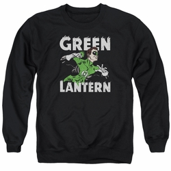 DC Comics adult crewneck sweatshirt Green Lantern Hal Power black