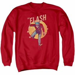 DC Comics adult crewneck sweatshirt The Flash Circle & Stars red