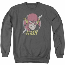 DC Comics adult crewneck sweatshirt The Flash Vintage Voltage charcoal