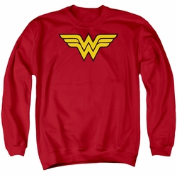 DC Comics adult crewneck sweatshirt Wonder Woman Logo red