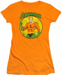 Aquaman juniors t-shirt Circle orange