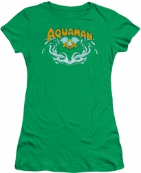 Aquaman juniors t-shirt Splash kelly green
